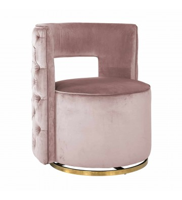 Swivel armchair Jamie Pink...
