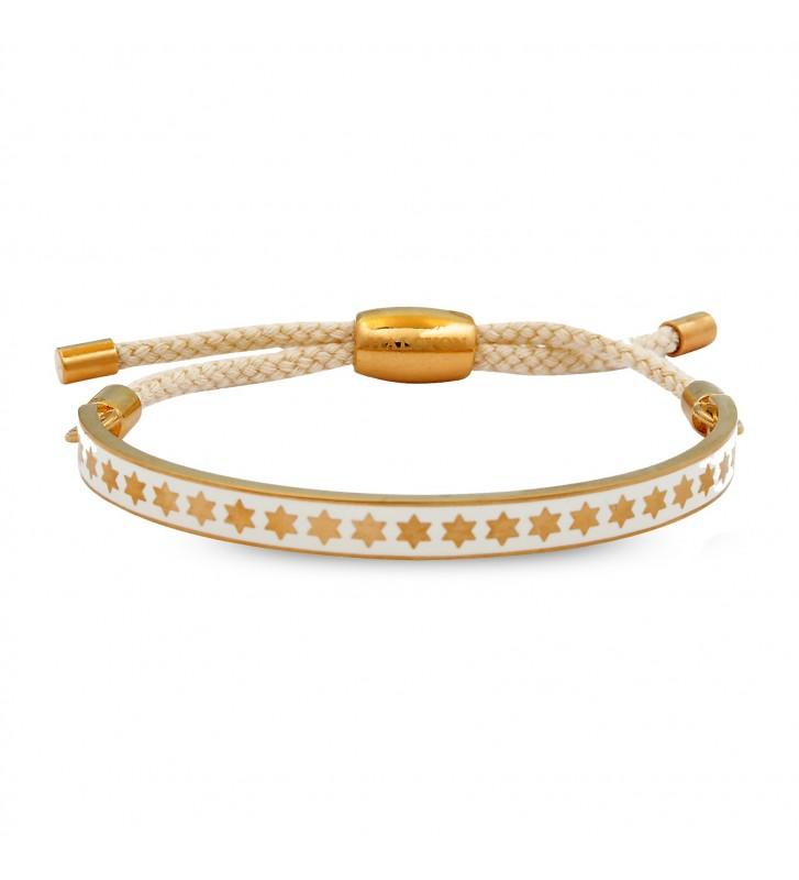 Bratara Star Cream & Gold
