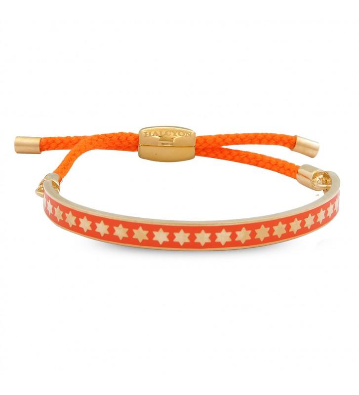 Bratara Star Orange&Gold