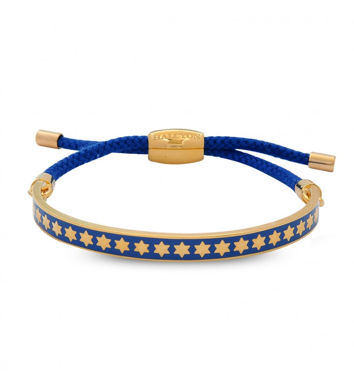 Bratara Star Cobalt & Gold