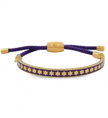 Bratara Star Royal purple & Gold