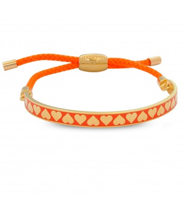 Bratara Heart Orange & Gold