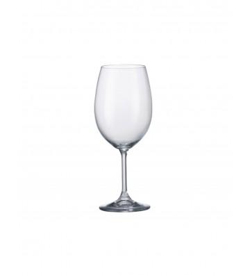Set 6 Pahare cristal Bohemia, Vin alb, Klara - 450 ml