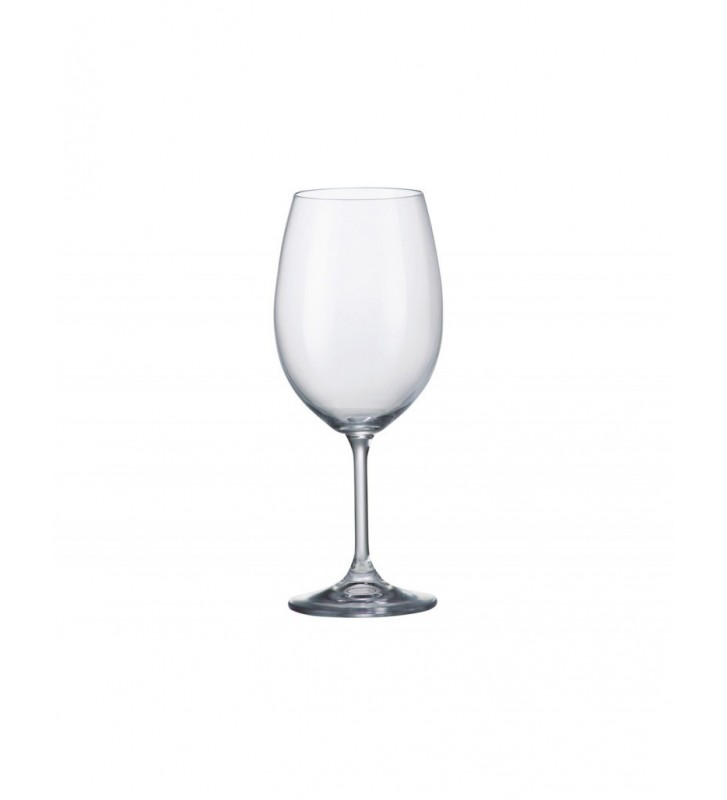 Set 6 Pahare cristal Bohemia, Vin alb, Klara/Sylvia - 450 ml