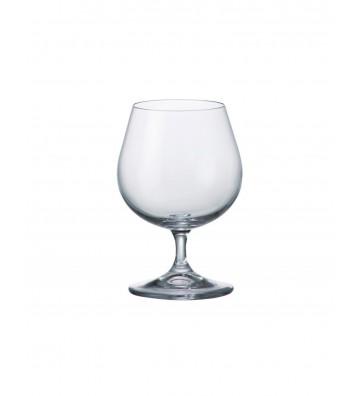 Set 6 Pahare cristal Bohemia, coniac, Klara - 400 ml