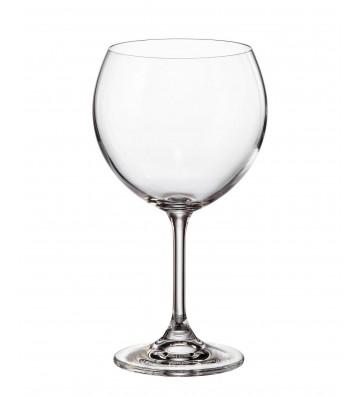 Set 6 Pahare cristal Bohemia, Vin rosu, Klara - 460 ml