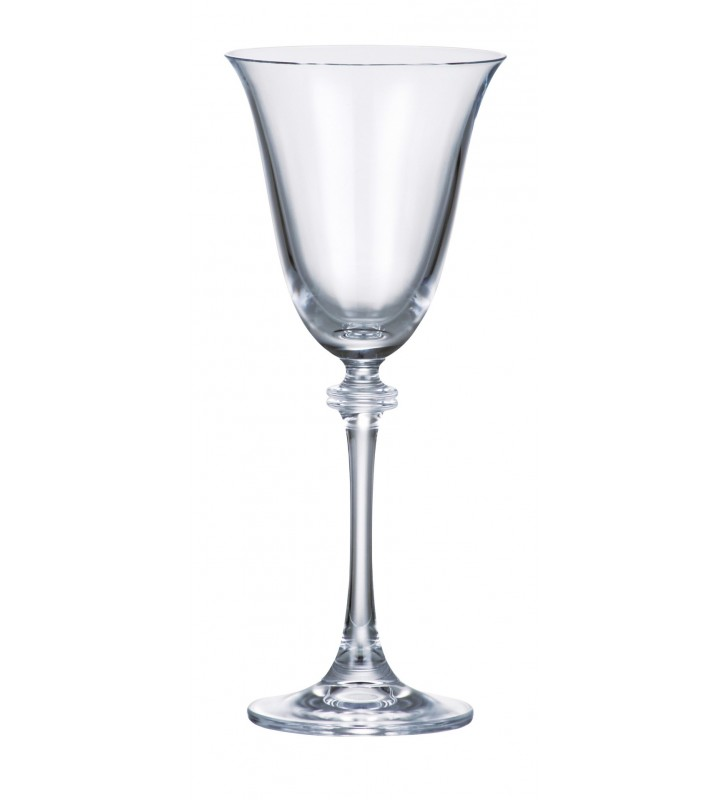 Set 6 Pahare cristal Bohemia, Vin alb, Alexandra - 250 ml