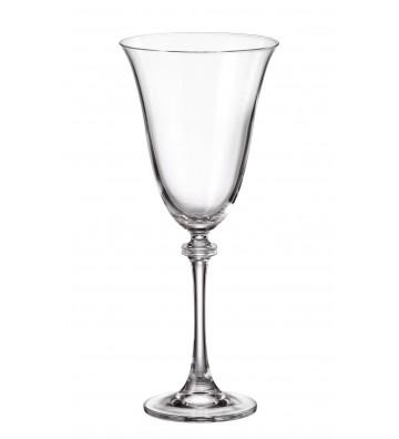 Set 6 Pahare cristal Bohemia, Vin rosu, Alexandra/Asio - 350 ml