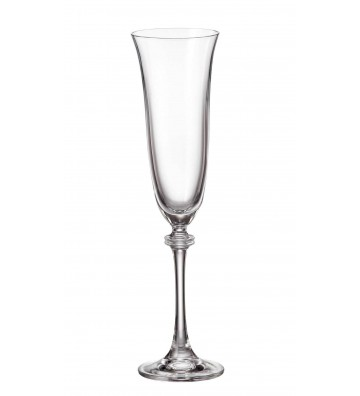 Set 6 Pahare cristal Bohemia, sampanie, Alexandra - 190 ml