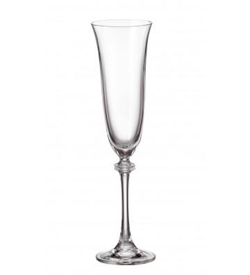 Set 6 Pahare cristal Bohemia, sampanie, Alexandra/Asio - 190 ml