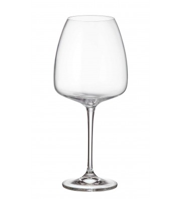 Set 6 Pahare cristal Bohemia, Vin rosu, Alizee - 770 ml