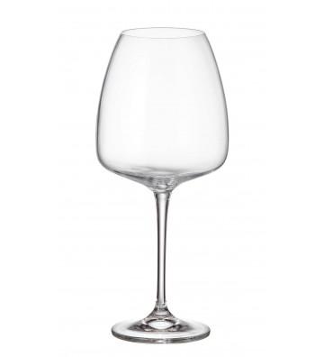 Set 6 Pahare cristal Bohemia, Vin rosu, Alizee/Anser - 610 ml