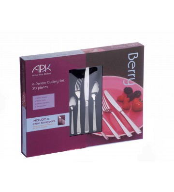 Set 30 tacamuri inox, Berry