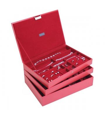 Set 3 maxi Cutii bijuterii, Rouge - Stackers