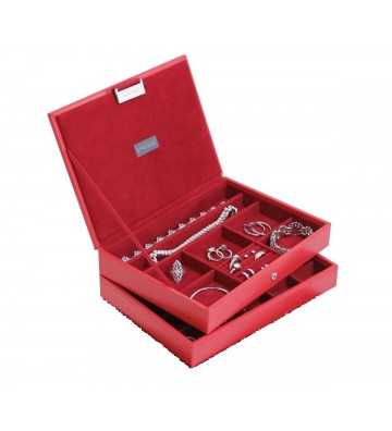 Set 2 cutii bijuterii medii, Rouge - Stackers
