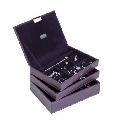 Set 3 cutii bijuterii medii purple-Stackers