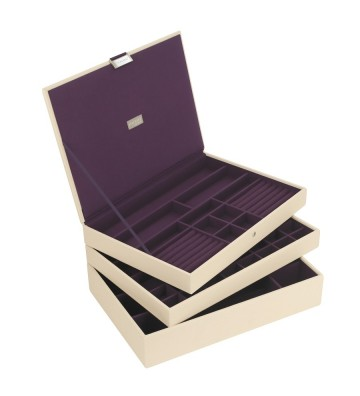 Set 3 cutii bijuterii maxi cream-Stackers