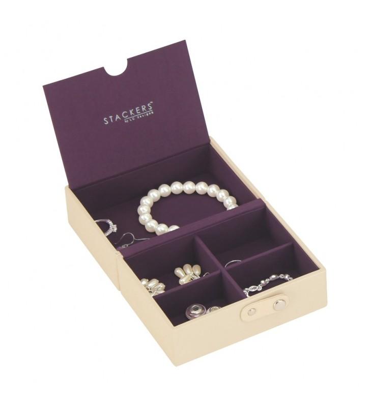 Cutie bijuterii calatorie cream/purple-Stackers