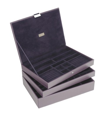 Set 3 cutii bijuterii maxi purple-Stackers