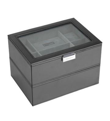 Set 2 cutii pentru 16 ceasuri black/grey