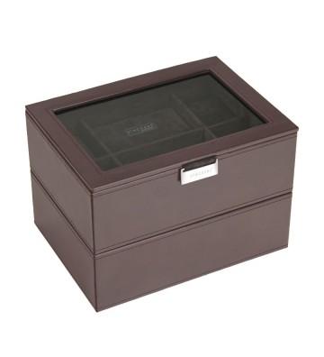 Set 2 cutii pentru 16 ceasuri brown