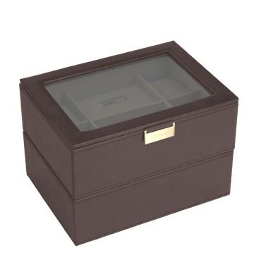 Set 2 cutii 16 ceasuri brown/khaki