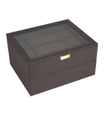 Set 2 cutii maxi ceasuri brown/khaki