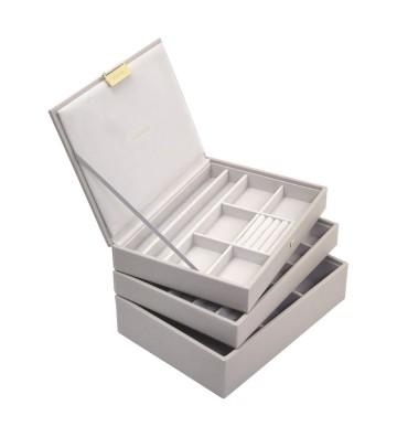 Set 3 cutii bijuterii medii taupe
