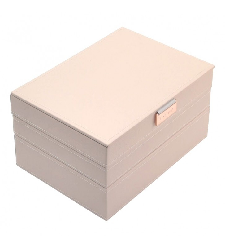 Set 3 cutii bijuterii medii blush pink