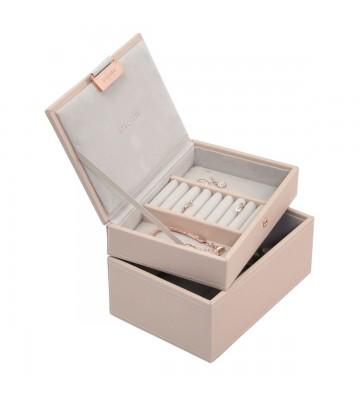 Set 2 mini cutii bijuterii blush pink-Stackers
