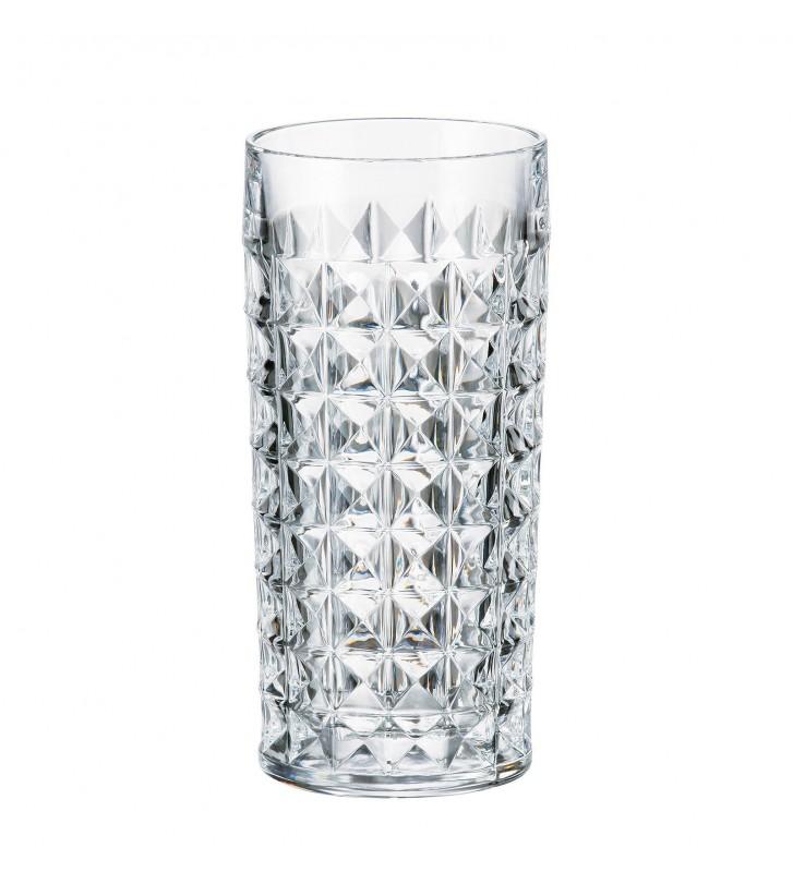 Set 6 pahare Diamond din cristal Bohemia 260 ml