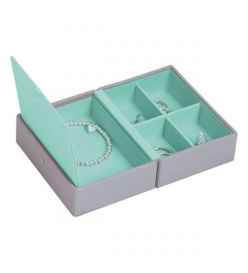 Cutie bijuterii calatorie dove grey/mint-Stackers