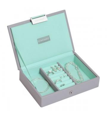 Mini cutie bijuterii dove grey/mint -Stackers