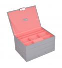 Set 3 cutii bijuterii media dove grey/coral