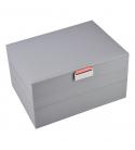 Set 3 cutii bijuterii medii dove grey/coral