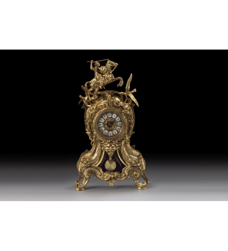 Set Ceas si 2 Sfesnice bronz CARRANCA+BOLA COQU