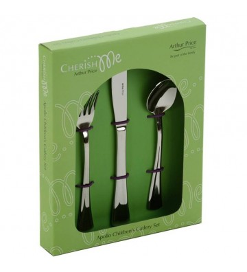SET 3 TACAMURI COPII INOX, APOLLO - VERDE