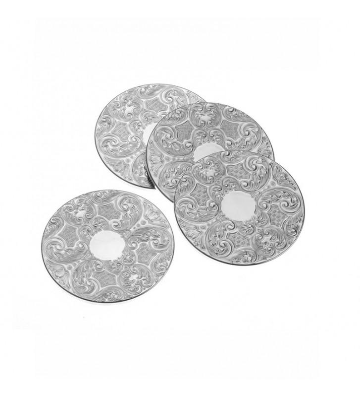 Suport pahar placat argint 5031