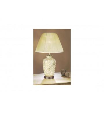 Veioza Thistle Gold, ceramica cu abajur textil
