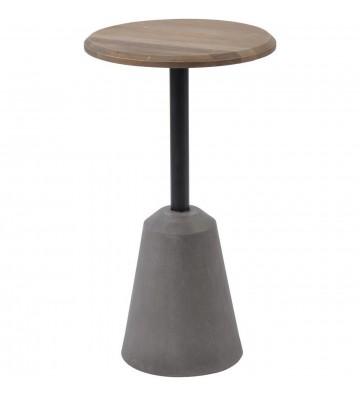 Masa laterală din stejar și beton Belmore