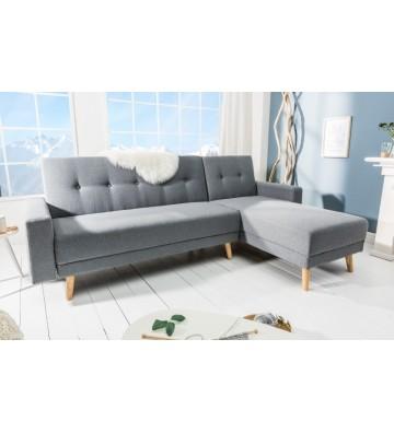 Canapea extensibila pe colt gri