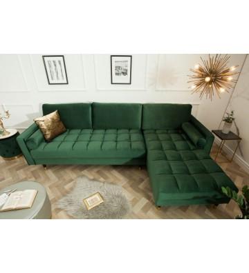 Canapea colt Cozy Velvet verde