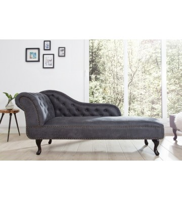Canapea Chesterfield gri cu aspect antic