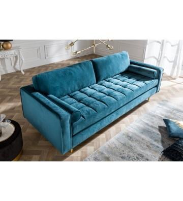 Canapea confortabila din catifea 225 cm