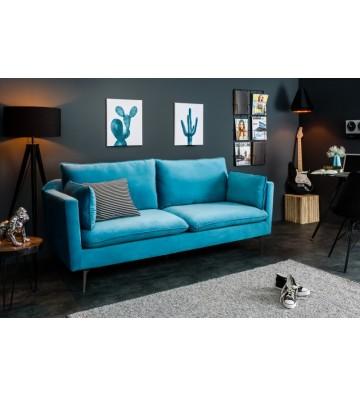 Canapea din catifea aqua 210cm