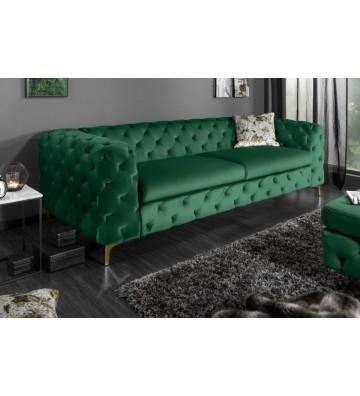 Canapea moderna din aur verde de 240 cm