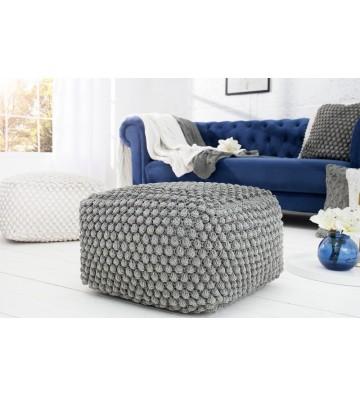 Tamburel confortabil, gri de 55 cm din tricotat