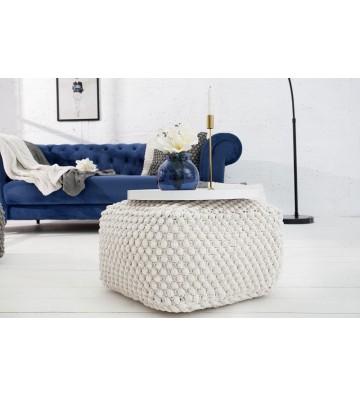 Tamburel confortabil alb de 55cm din tricot