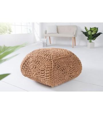 Tamburel confortabil IV cafeniu de 70 cm din tricot