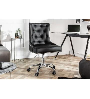Scaun de birou negru cu cotiera